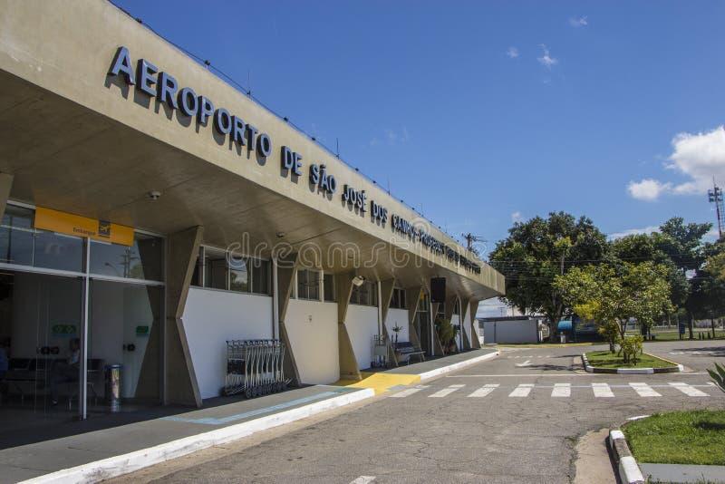 佐尾Jose Dos坎波斯机场-巴西 库存照片