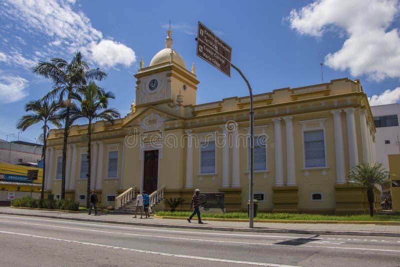 佐尾Jose Dos坎波斯-巴西的老城镇厅 免版税图库摄影