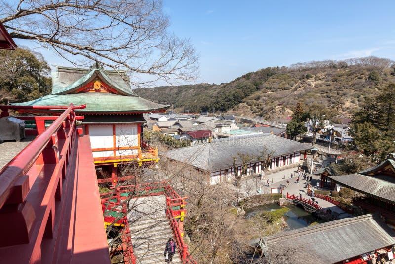 佑德Inari是神道圣地在鹿岛市,佐贺县,九州海岛,日本 库存图片