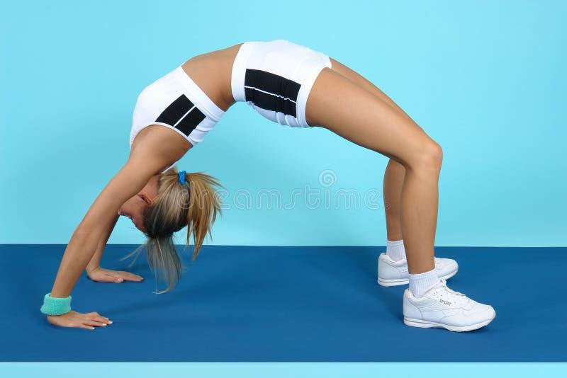 体操培训 免版税库存照片
