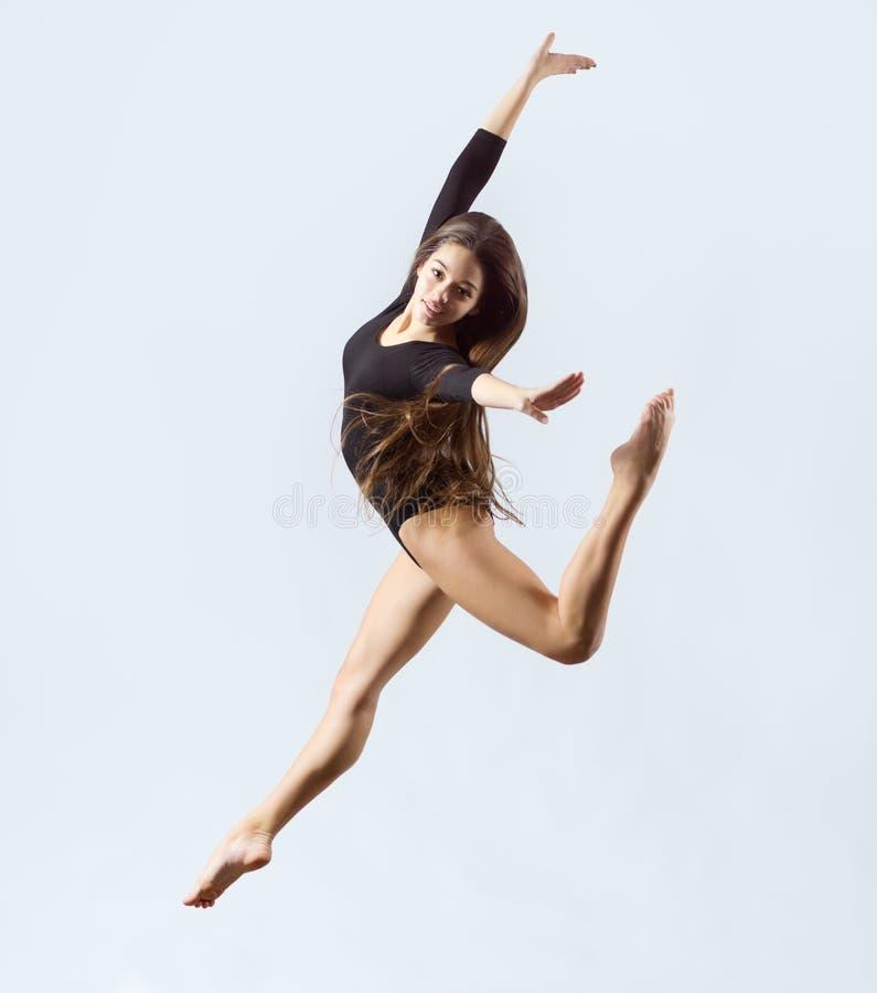 体操女孩允诺的艺术 图库摄影