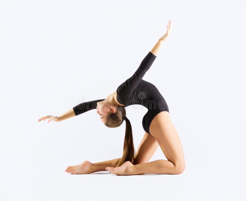 体操女孩允诺的艺术 库存图片