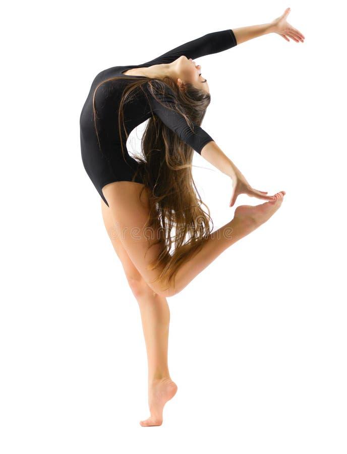 体操女孩允诺的艺术 免版税库存图片
