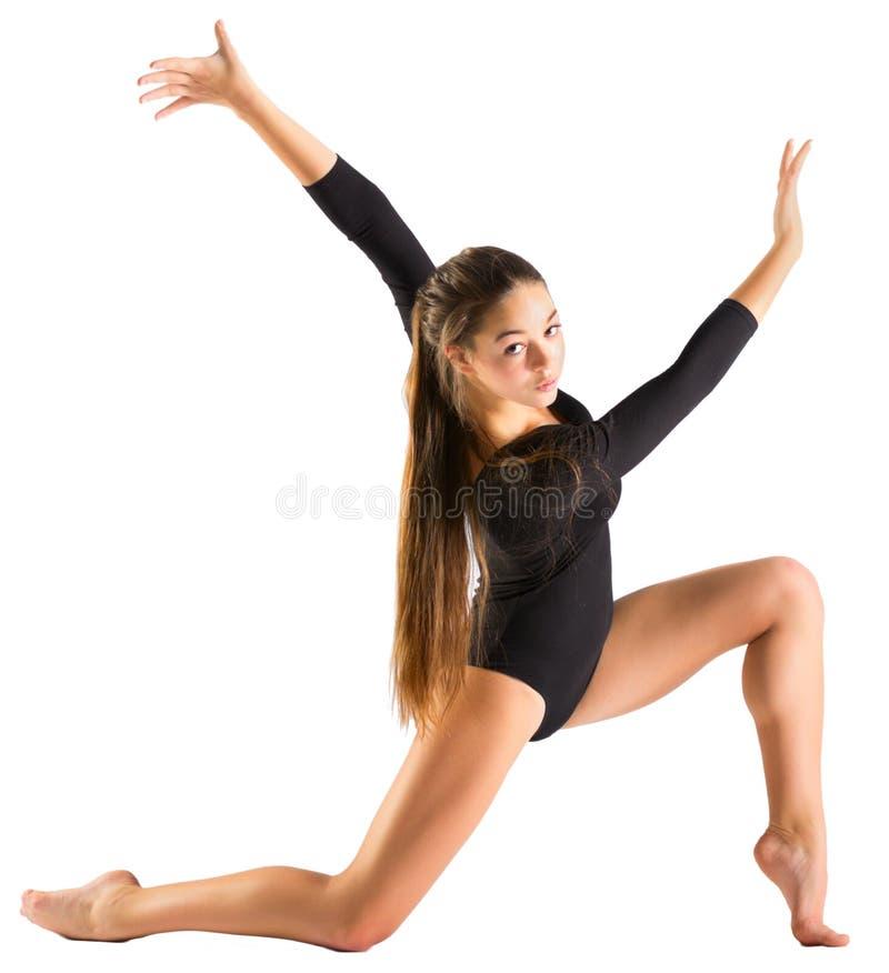体操女孩允诺的艺术 库存照片