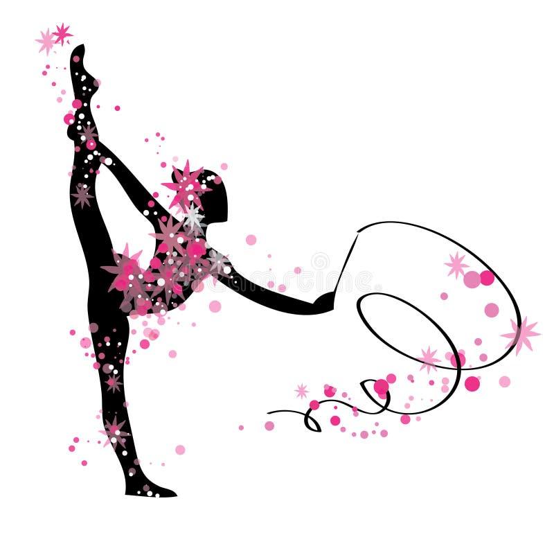Download 体操女孩剪影 向量例证. 插画 包括有 deco, 几何, 有吸引力的, 夹子, 颜色, 设计, 投反对票 - 72371384