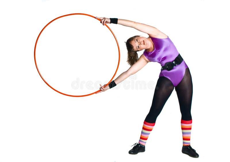 体操环形妇女年轻人 库存照片