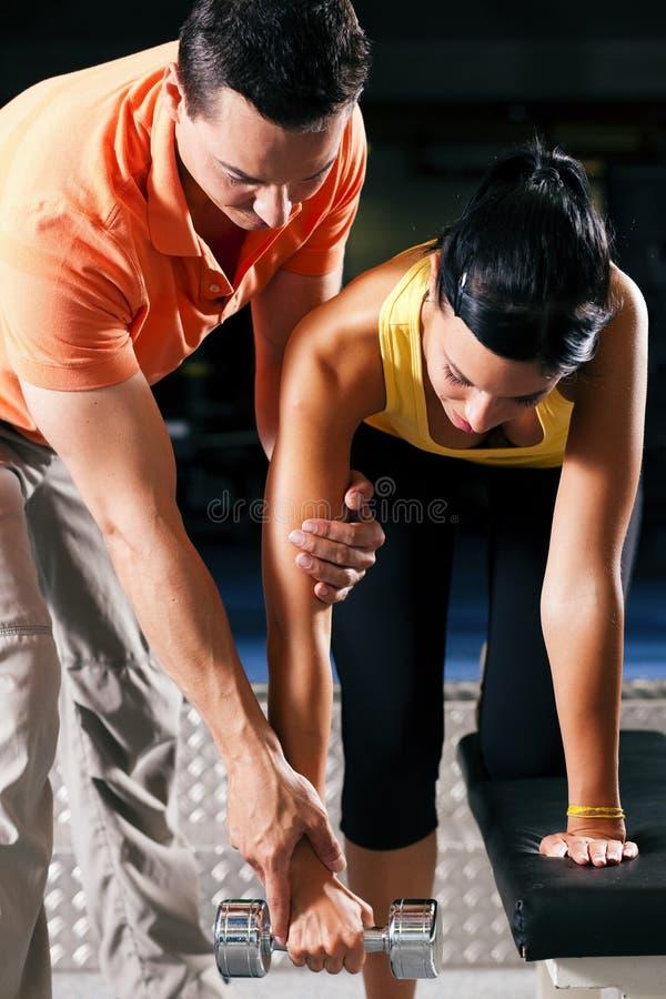 体操私有培训人 免版税图库摄影