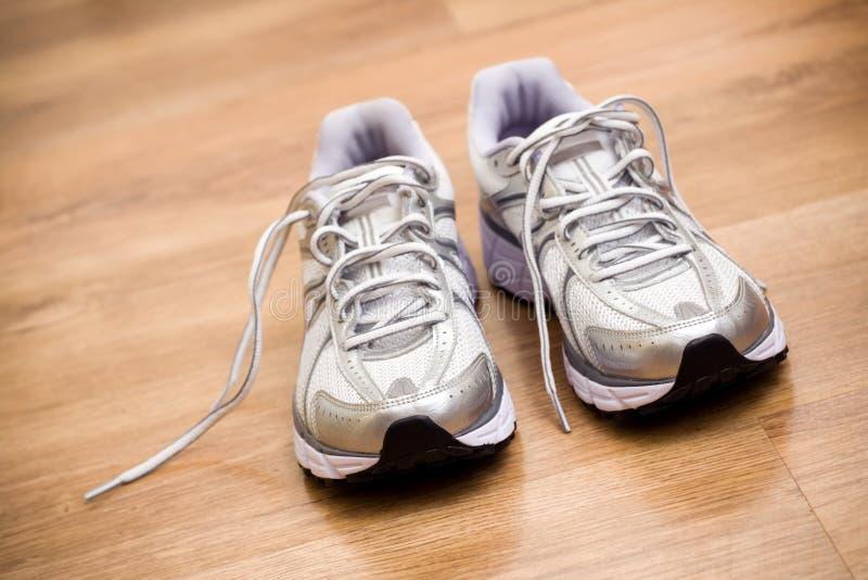 体操跑鞋锻炼 库存图片
