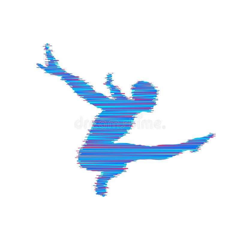 体操运动员人摆在并且跳舞 体育标志 设计要素例证图象向量 也corel凹道例证向量 向量例证
