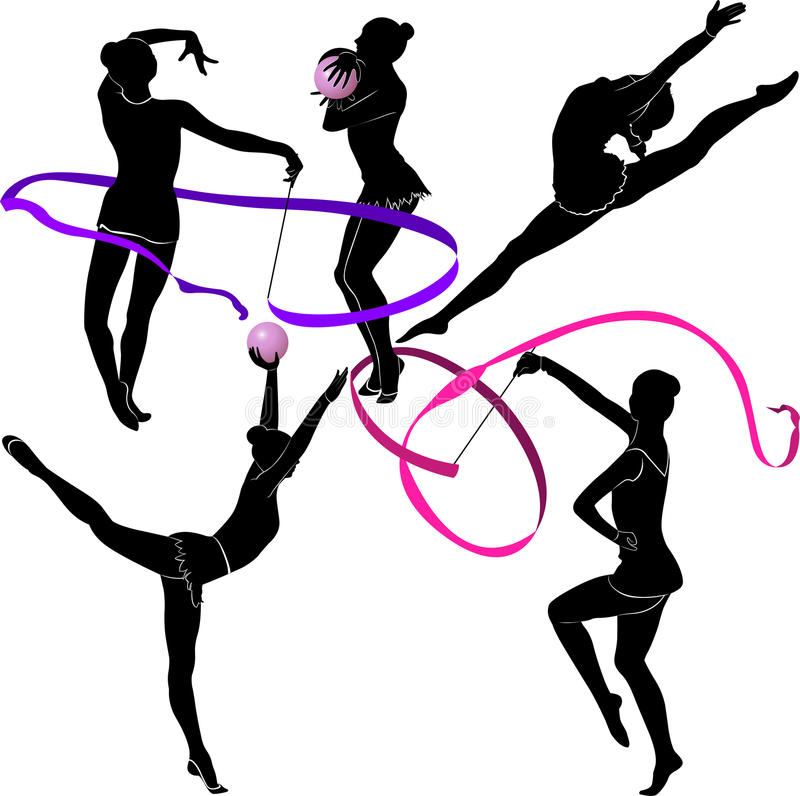 体操运动员 库存例证