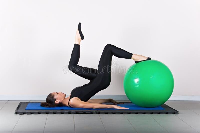 体操pilates 免版税库存照片