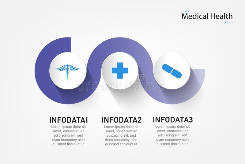 体格检查信息显示工艺卡片图图的摘要元素与步、选择、部分或者过程传染媒介的 库存例证