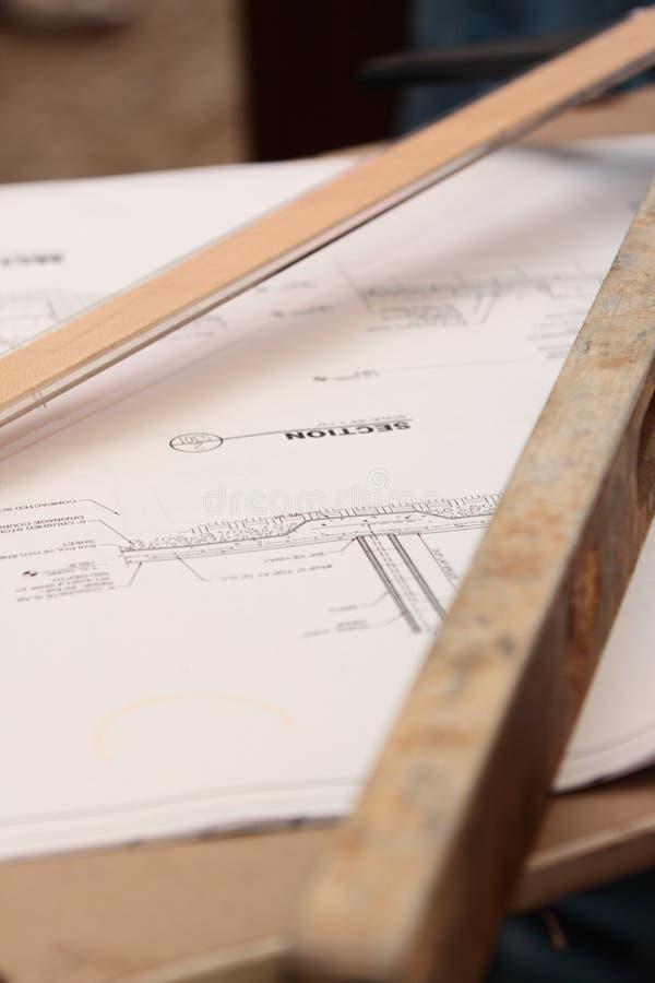 体系结构计划 免版税图库摄影