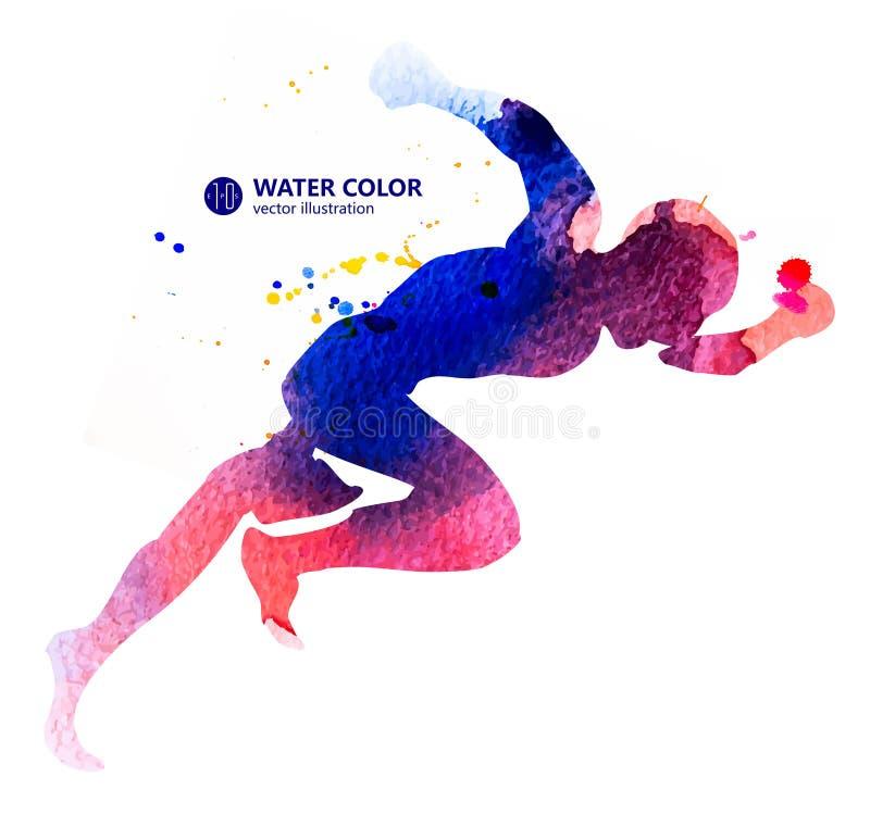 体育、体操运动员、体育和快速的赛跑者 库存例证