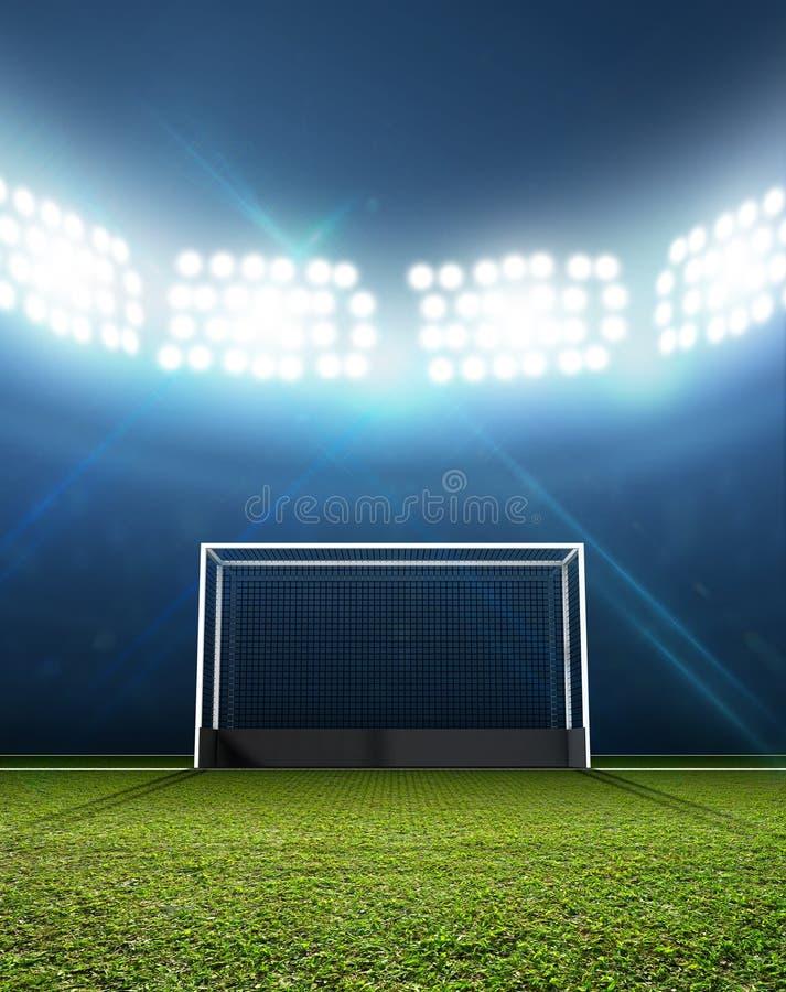 体育体育场和曲棍球目标 库存例证