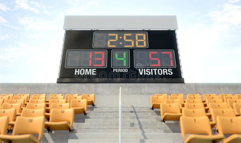 体育体育场记分牌 向量例证