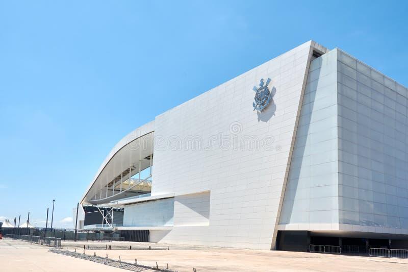 体育俱乐部科林斯保利斯塔体育场在圣保罗,巴西 免版税库存图片