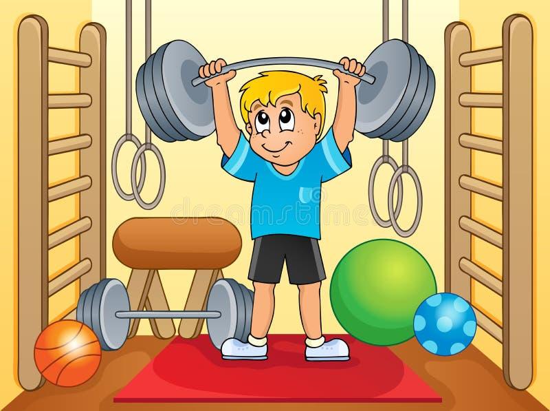 体育和健身房题材8 皇族释放例证