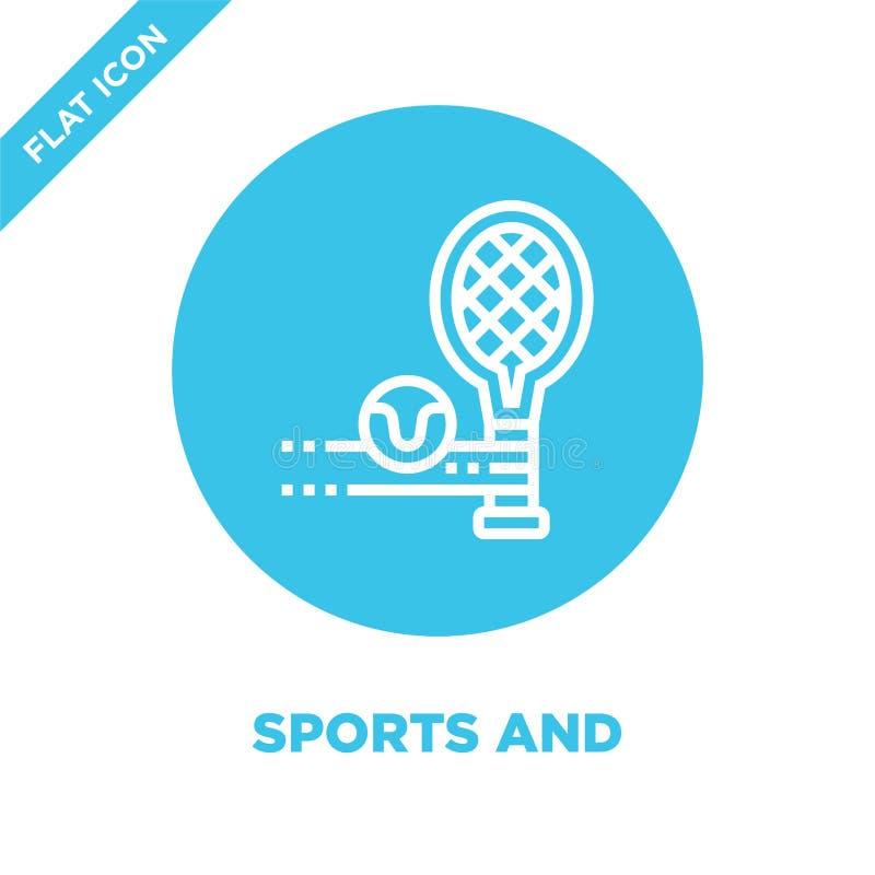 体育和竞争象传染媒介从健康生活收藏 稀薄的线体育和竞争概述象传染媒介 库存例证