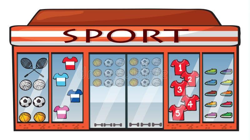 体育商店 皇族释放例证