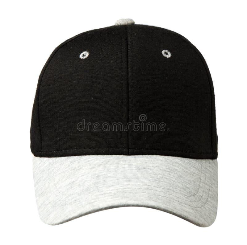 体育在白色背景加盖隔绝 有黑上面的盖帽 库存照片