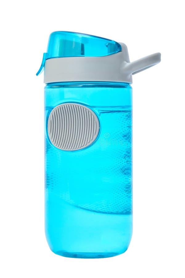 体育在白色背景隔绝的水瓶 免版税库存图片