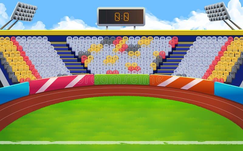 体育场传染媒介背景 向量例证