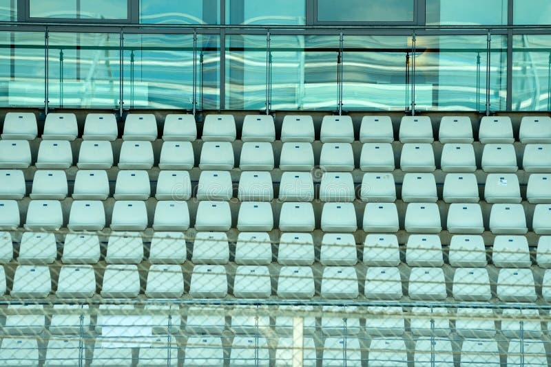 体育场供以座位竞技场背景 免版税库存照片