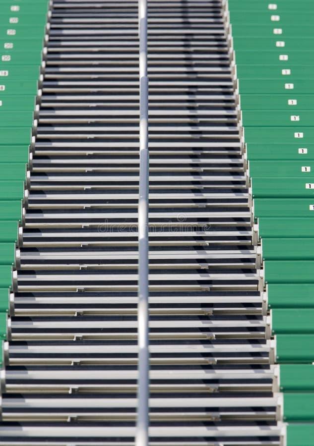 体育场台阶 库存图片