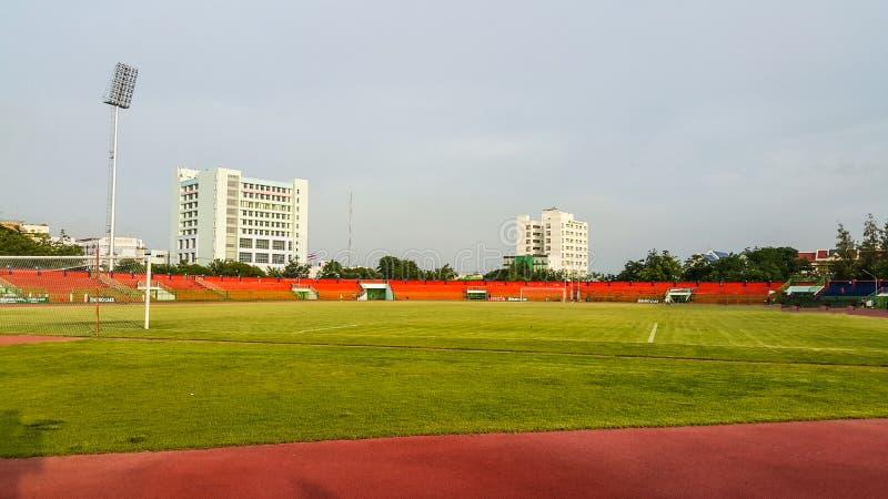 体育场是为锻炼和竞争的人 图库摄影