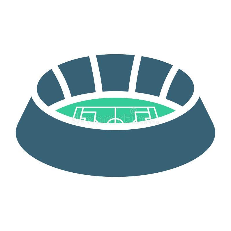 体育场标志 橄榄球竞技场象 建立标志的体育 Vecto 库存例证