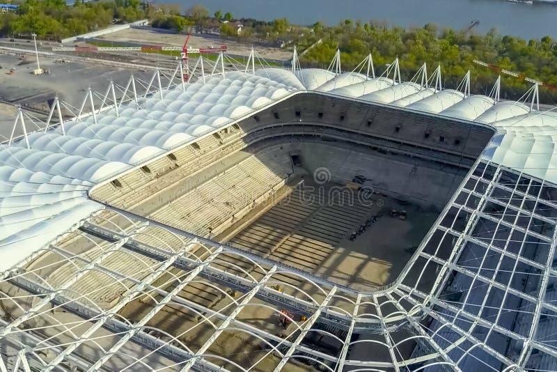 体育场的建造 体育场 库存照片