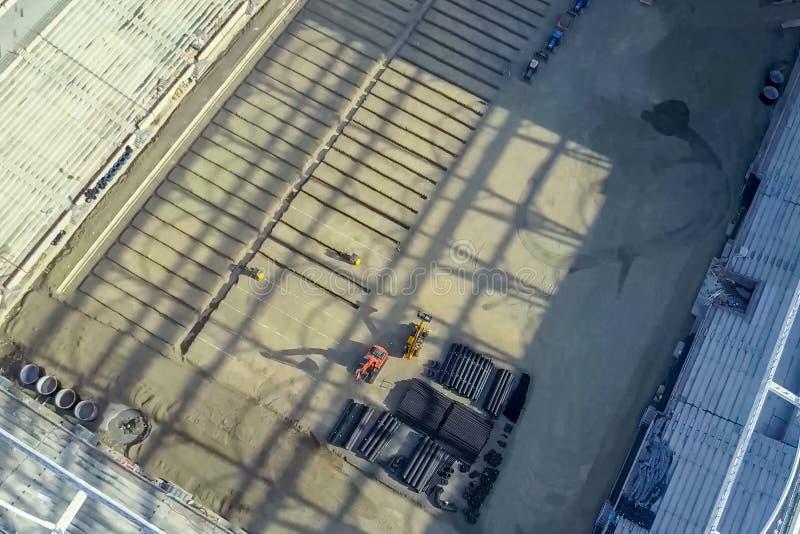 体育场的建造 体育场 免版税库存图片
