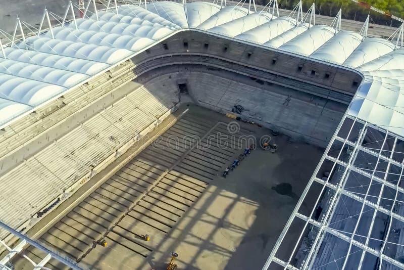 体育场的建造 体育场 免版税库存照片