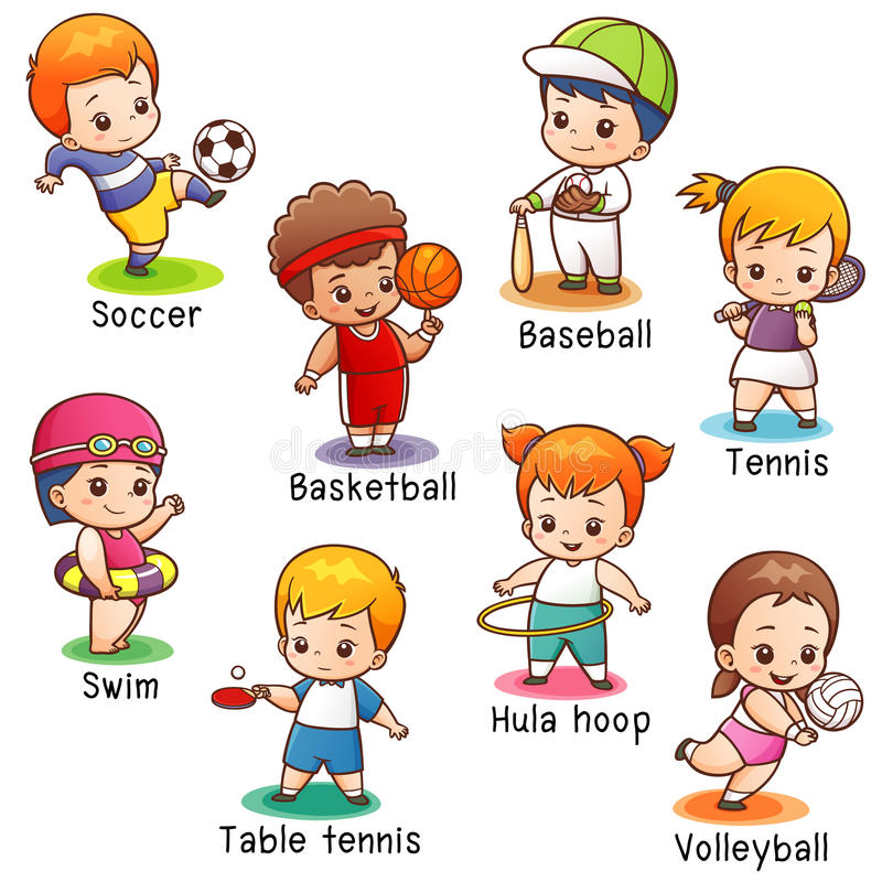 体育字符 向量例证