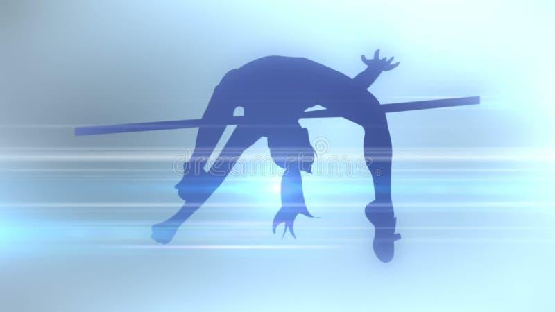 体育学科一个抽象剪影  3d翻译 皇族释放例证