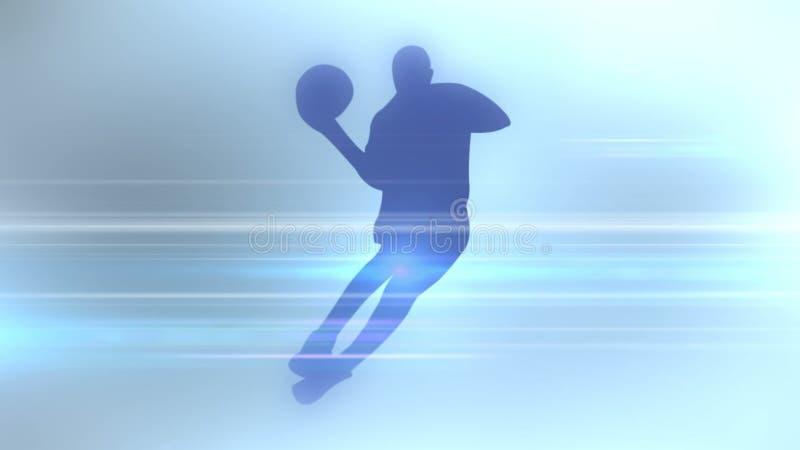 体育学科一个抽象剪影  3d翻译 向量例证