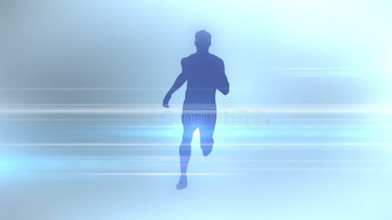 体育学科一个抽象剪影  3d翻译 库存例证