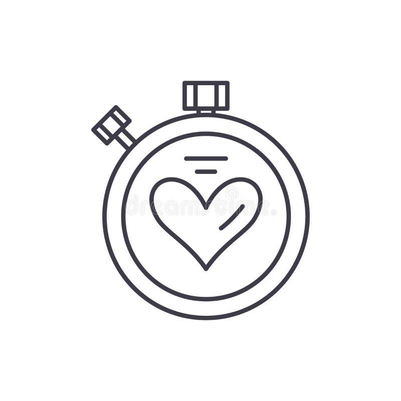 体育定时器线象概念 体育定时器传染媒介线性例证,标志,标志 向量例证