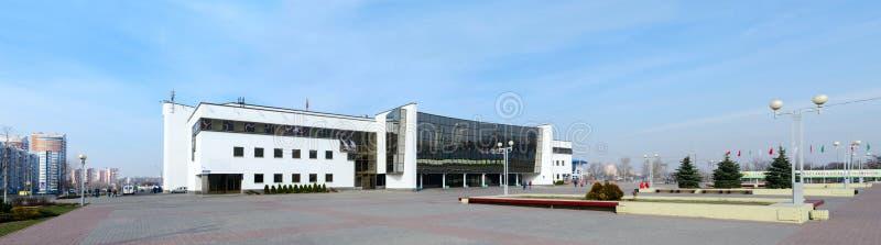 体育当代冰宫殿在戈梅利,白俄罗斯 图库摄影