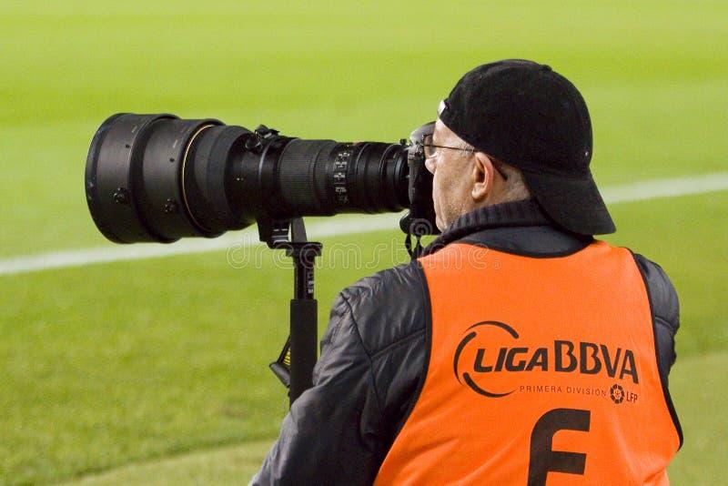 体育摄影师 图库摄影