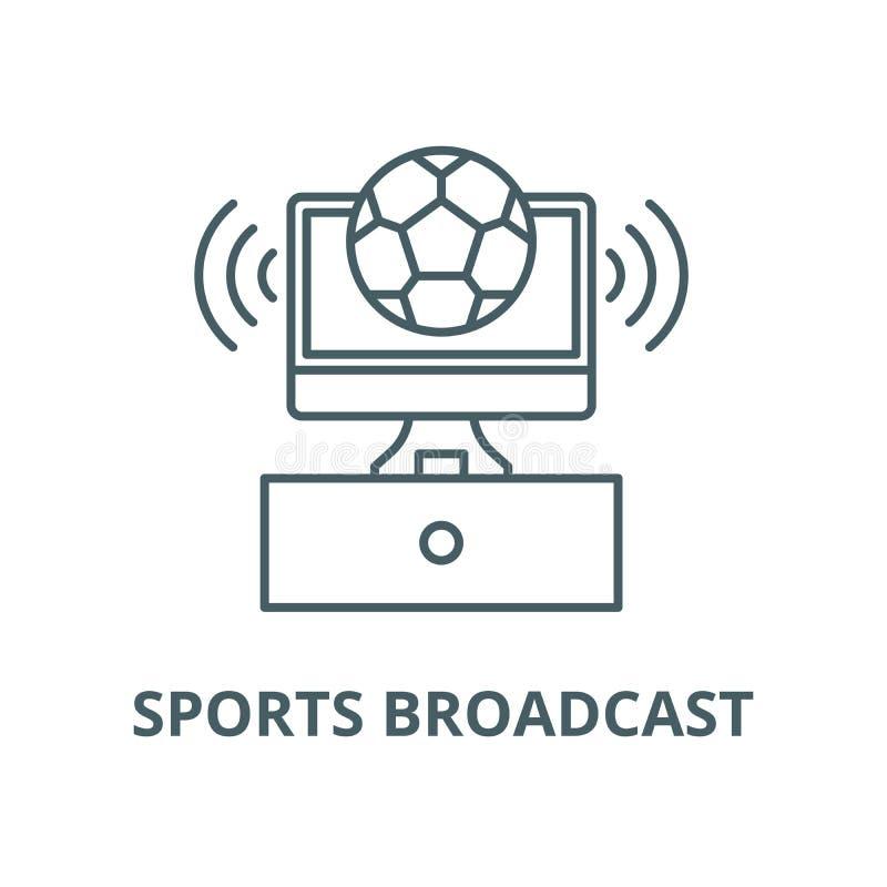 体育播放了传染媒介线象,线性概念,概述标志,标志 皇族释放例证