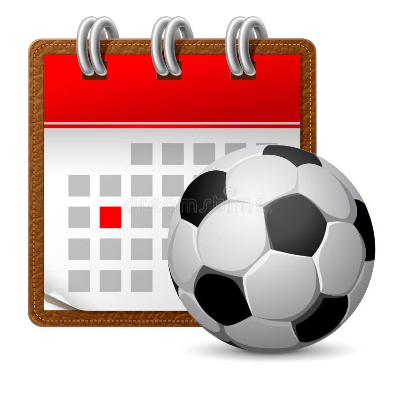 体育日历 向量例证