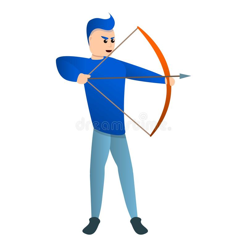 体育曲拱射击象,动画片样式 皇族释放例证