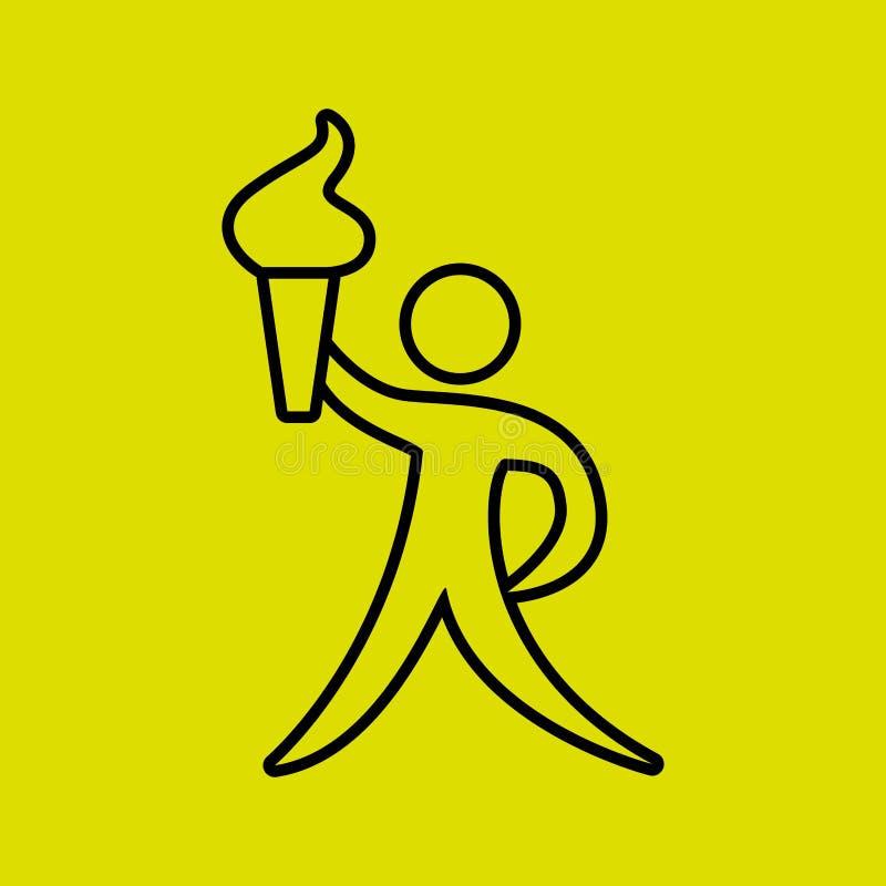 体育构思设计 皇族释放例证