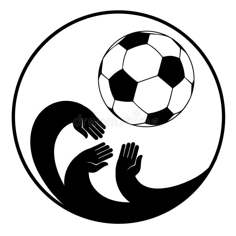 体育标签背景的圆概念 足球美式足球体育足球选手橄榄球场 库存例证