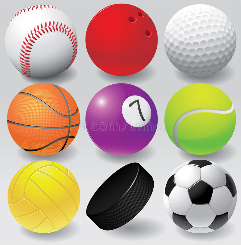 体育球传染媒介例证eps 8 向量例证