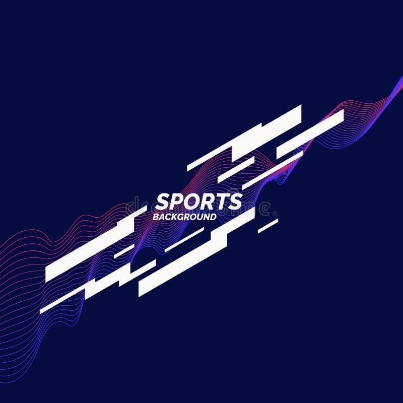 体育的现代色的海报 例证适用于设计 库存例证