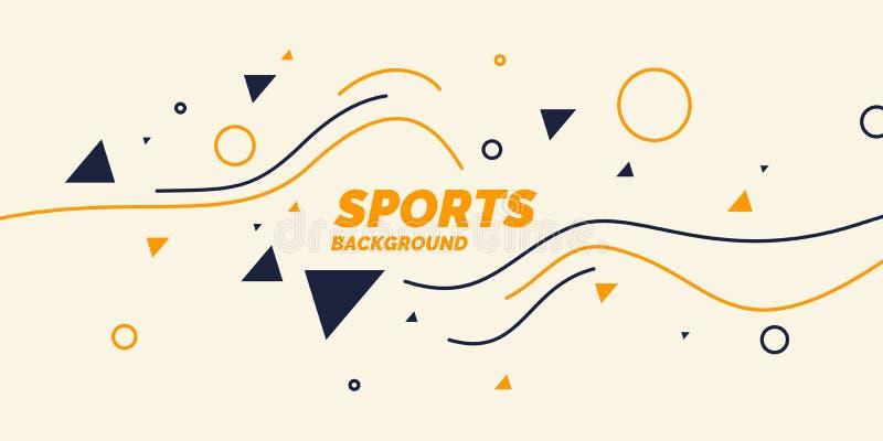 体育的现代色的海报 皇族释放例证