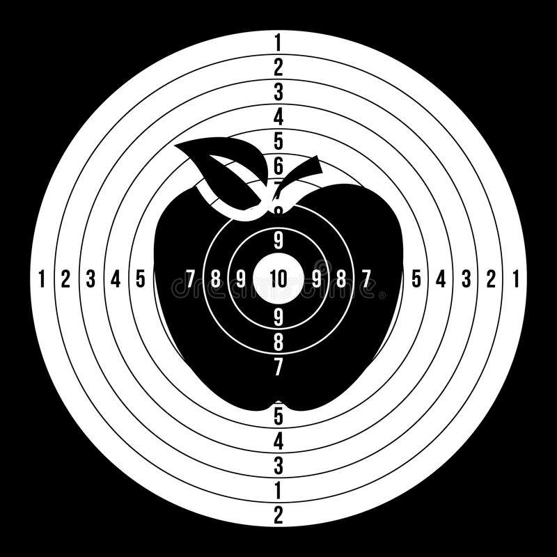 体育目标空白传染媒介 经典纸射击圆的目标,目标例证 皇族释放例证